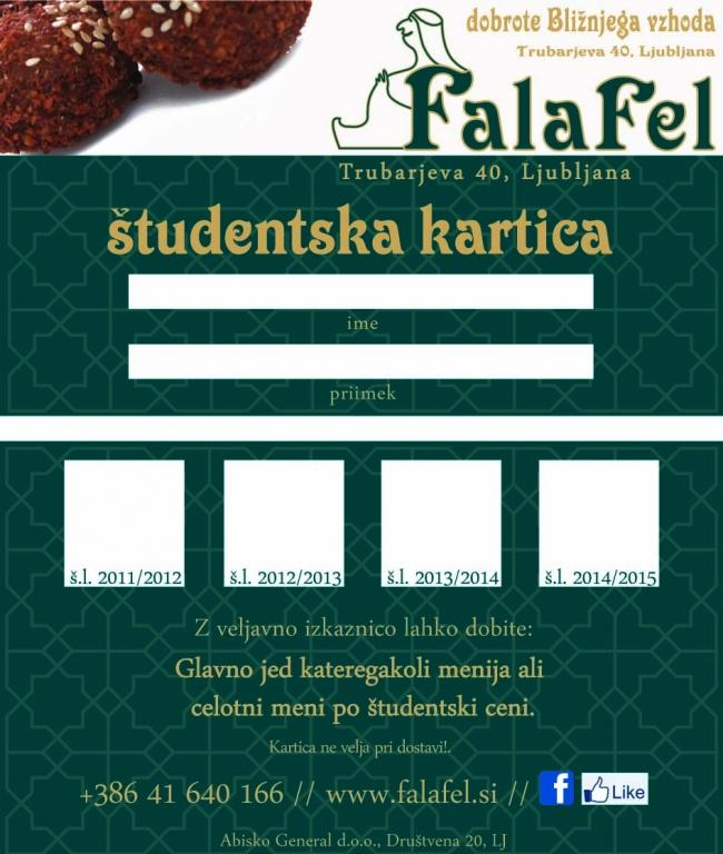 Študentska kartica - product image