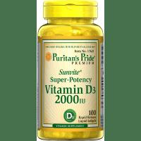 Vitamin D3, 2000IU, 100 mehkih kapsul - product image