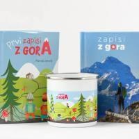 Planinski dnevnik - Zapisi z gora, Komplet za odrasle in otroke - product image
