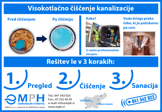 Visokotlačno čiščenje kanalizacije - product image
