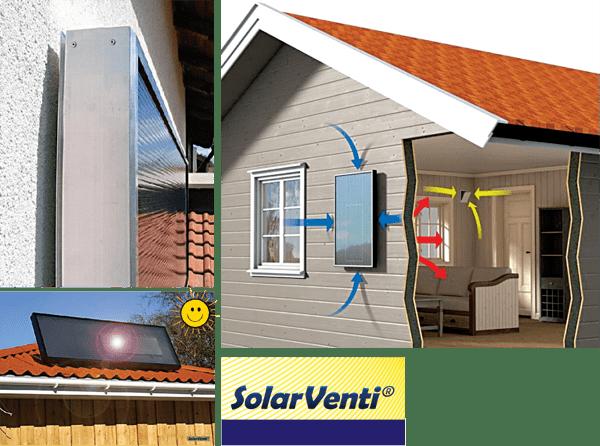 Toplozračni solarni kolektor - SolarVenti - product image